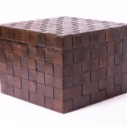 Woven leather box