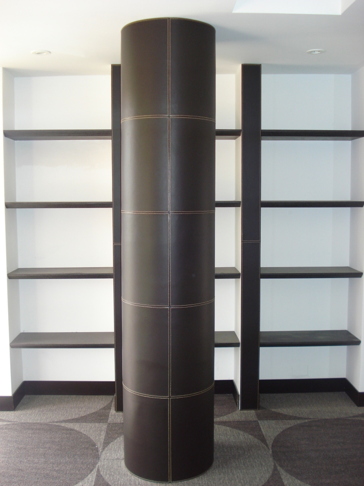 Leather Column and shelves