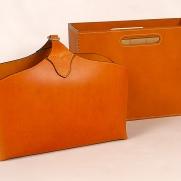 Leather classic magazine rack