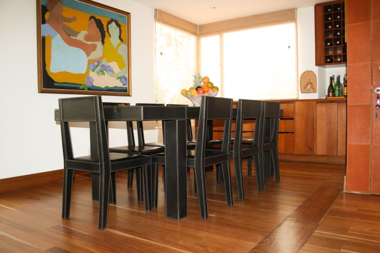 Leather table and chairs